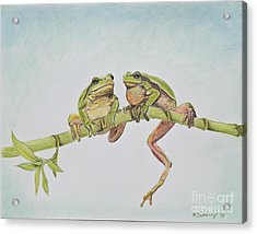 Arboreal Frogs In Pastel Acrylic Print