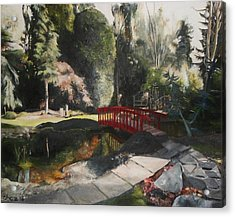 Acrylic Print featuring the painting Arbour Bridge by Cherise Foster