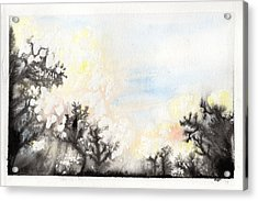 Acrylic Print featuring the painting Arbres En Feu by Marc Philippe Joly