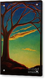 Acrylic Print featuring the painting Arbutus Bliss by Janet McDonald
