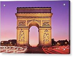 Acrylic Print featuring the photograph Arc De Triomphe Facade / Paris by Barry O Carroll