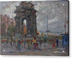 Arc De Triomphe. Moscow Acrylic Print by Ilya  Izyumov