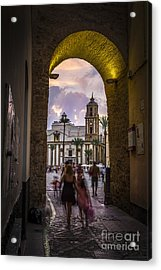 Arc Of The Rose Cadiz Spain Acrylic Print