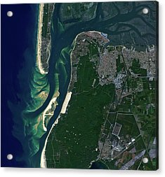 Arcachon Bay Acrylic Print by Jaxa/european Space Agency