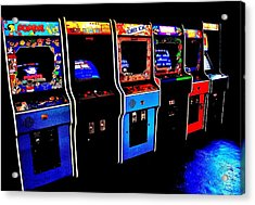 Arcade Forever Nintendo Acrylic Print by Benjamin Yeager