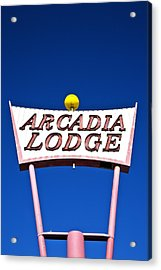 Acrylic Print featuring the photograph Arcadia Lodge by Gigi Ebert