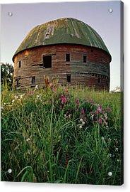 Arcadia Round Barn And Wildflowers Acrylic Print