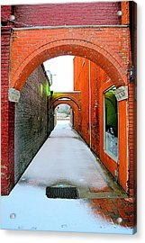 Arch And Corridor Acrylic Print by James Potts