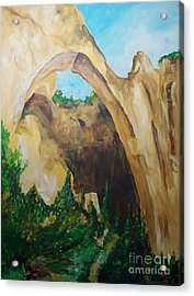 Acrylic Print featuring the painting Arch by Eric  Schiabor