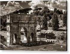 Arch Of Contantine Acrylic Print