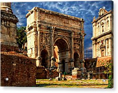 Arch Of Septimius Severus Acrylic Print by Anthony Dezenzio