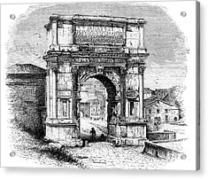 Arch Of Titus Acrylic Print by Collection Abecasis