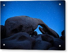 Arch Rock Starry Night 2 Acrylic Print by Stephen Stookey