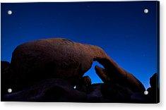 Arch Rock Starry Night Acrylic Print by Stephen Stookey