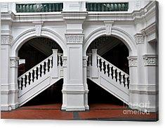 Arch Staircase Balustrade And Columns Acrylic Print