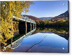 Arch Street Bridge In Autumn Acrylic Print