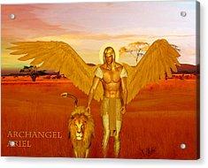 Archangel Ariel Acrylic Print by Valerie Anne Kelly