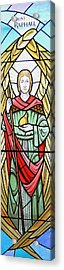 Archangel Raphael Acrylic Print by Gilroy Stained Glass