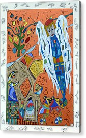 Acrylic Print featuring the mixed media Archangel Raziel by Clarity Artists