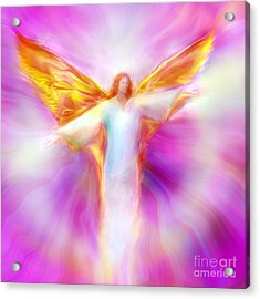 Archangel Sandalphon In Flight Acrylic Print