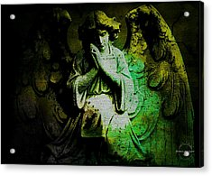 Archangel Uriel Acrylic Print by Absinthe Art By Michelle LeAnn Scott