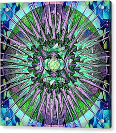 Archangels Gather Mandala Acrylic Print by Michele Avanti