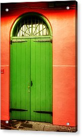 Arched Door In New Orleans Acrylic Print