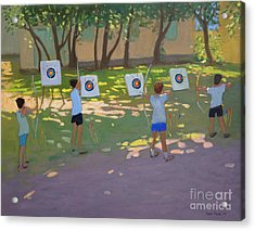 Archery Practice  France Acrylic Print by Andrew Macara