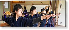 Archery Students Practicing At Japanese Acrylic Print