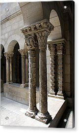 Arches And Columns - Cloister Nyc Acrylic Print by Christiane Schulze Art And Photography