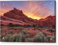Arches Fire In The Sky Acrylic Print by Darren  White