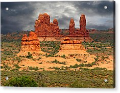 Arches National Park - A Picturesque Drama Acrylic Print