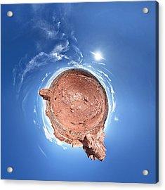 Arches National Park Little Planet Acrylic Print by Juan Carlos Diaz Parra