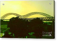 Arches Towards Little Rock And Memphis Acrylic Print by Michael Hoard