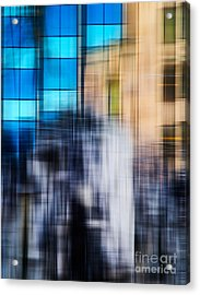 Architectural Abstract In Bright Blue Acrylic Print by Emilio Lovisa