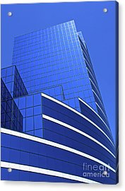 Acrylic Print featuring the photograph Architectural Blues by Ann Horn