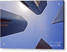 Architectural Bunker Hill Financial District Acrylic Print by David Zanzinger