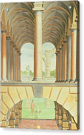 Architectural Capriccio Acrylic Print by Jacobus Saeys