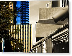 Architectural Crumpled Steel Gehry Acrylic Print
