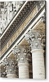 Architectural Detail Of The Pantheon Acrylic Print by William Sutton