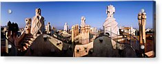 Architectural Details Of Rooftop Acrylic Print by Panoramic Images