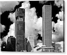 Architectural Diversity Houston Tx Acrylic Print by Christine Till