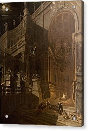 Architectural Fantasy With Figures Acrylic Print by Stefano Orlandi