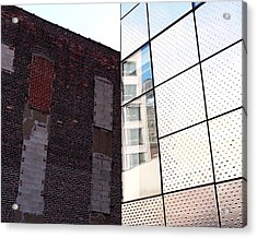 Architectural Juxtaposition On The High Line Acrylic Print by Rona Black