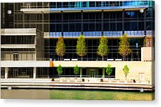 Architectural Pattern Trees Acrylic Print