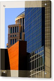 Architectural Stone Steel Glass Acrylic Print