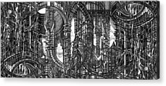 Architectural Utopia 4 Fragment Acrylic Print by Serge Yudin