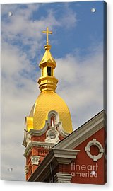 Architecture - Golden Cross Acrylic Print by Liane Wright