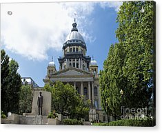 Architecture - Illinois State Capitol  - Luther Fine Art Acrylic Print