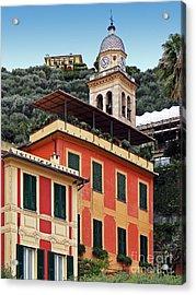 Acrylic Print featuring the photograph Architecture In Portofino by Sue Melvin